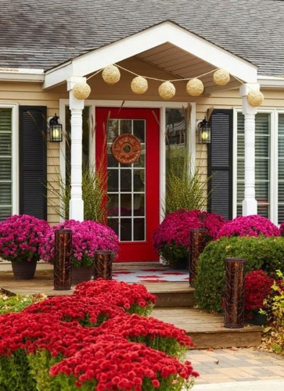 Descargar imagenes de entradas de casas con jardines de flores