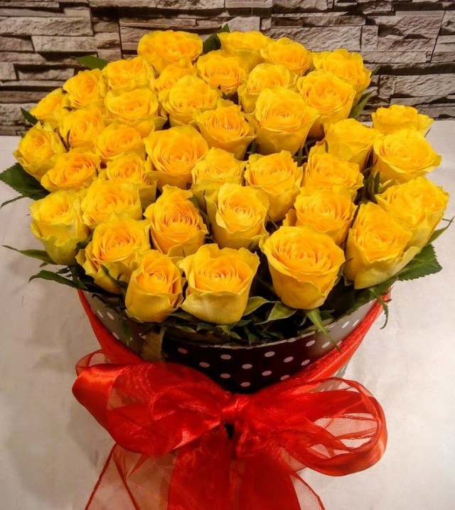 Imagen de ramo de flores amarillas para regalar por celular