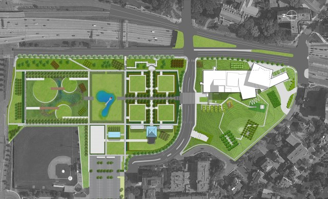 Imagen plano del jardin de la escultura Minneapolis