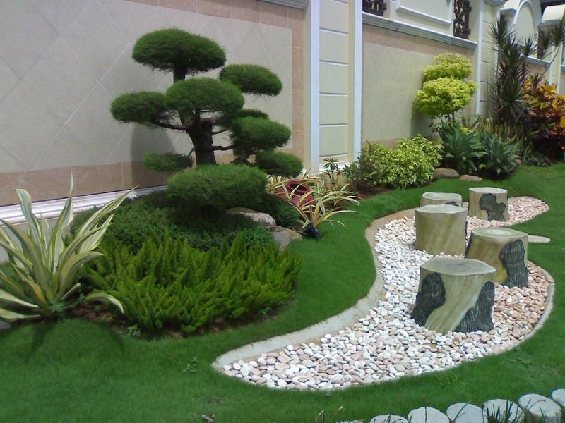imagenes de bonitos jardines minimalistas con piedras - Jardines Minimalistas