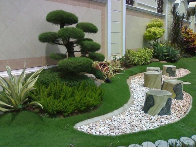 Imagenes de bonitos jardines minimalistas con piedras