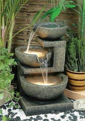 Imagenes de fuentes para decorar jardines