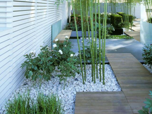 Imagenes de jardines minimalistas usando piedras