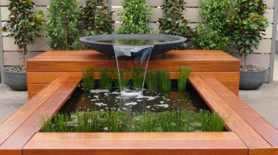 Imagenes con ideas para decorar tu jard n con fuentes de agua - Cosas para el jardin ...