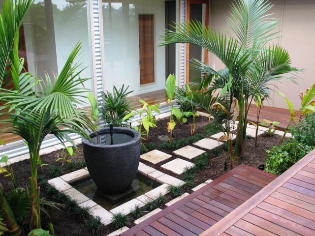 Imagenes de modernos jardines con piedras