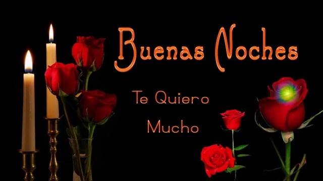Imagenes de rosas con frases de buenas noches para un amor