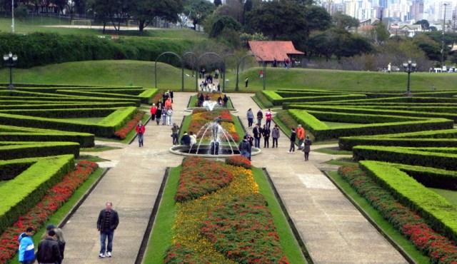 Imagenes del jardin Curitiba en Brasil