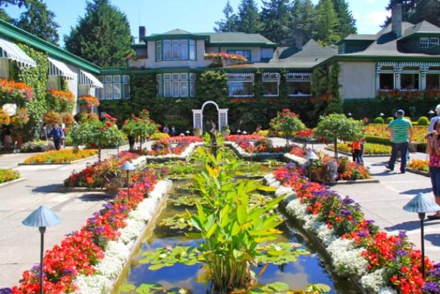 Imagenes del jardin butchart vancouver isla brentwood