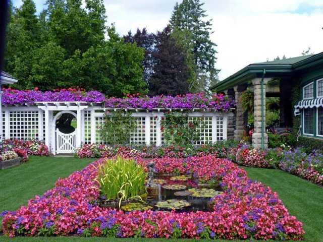 Jardines hermosos en Canada el Butchart