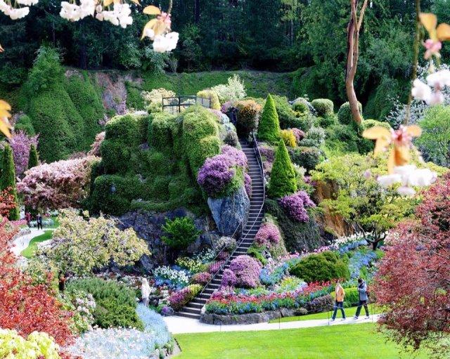 Jardines más famosos en el mundo Butchart en Canada