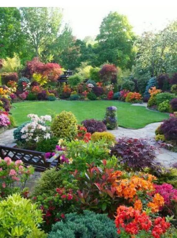 imagenes de jardines con muchas flores para facebook