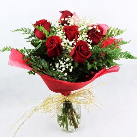 Ramo De Rosas Rojas Para Enviar Por Celular El Día De San Valentín