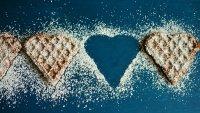 Galletitas con forma de corazones