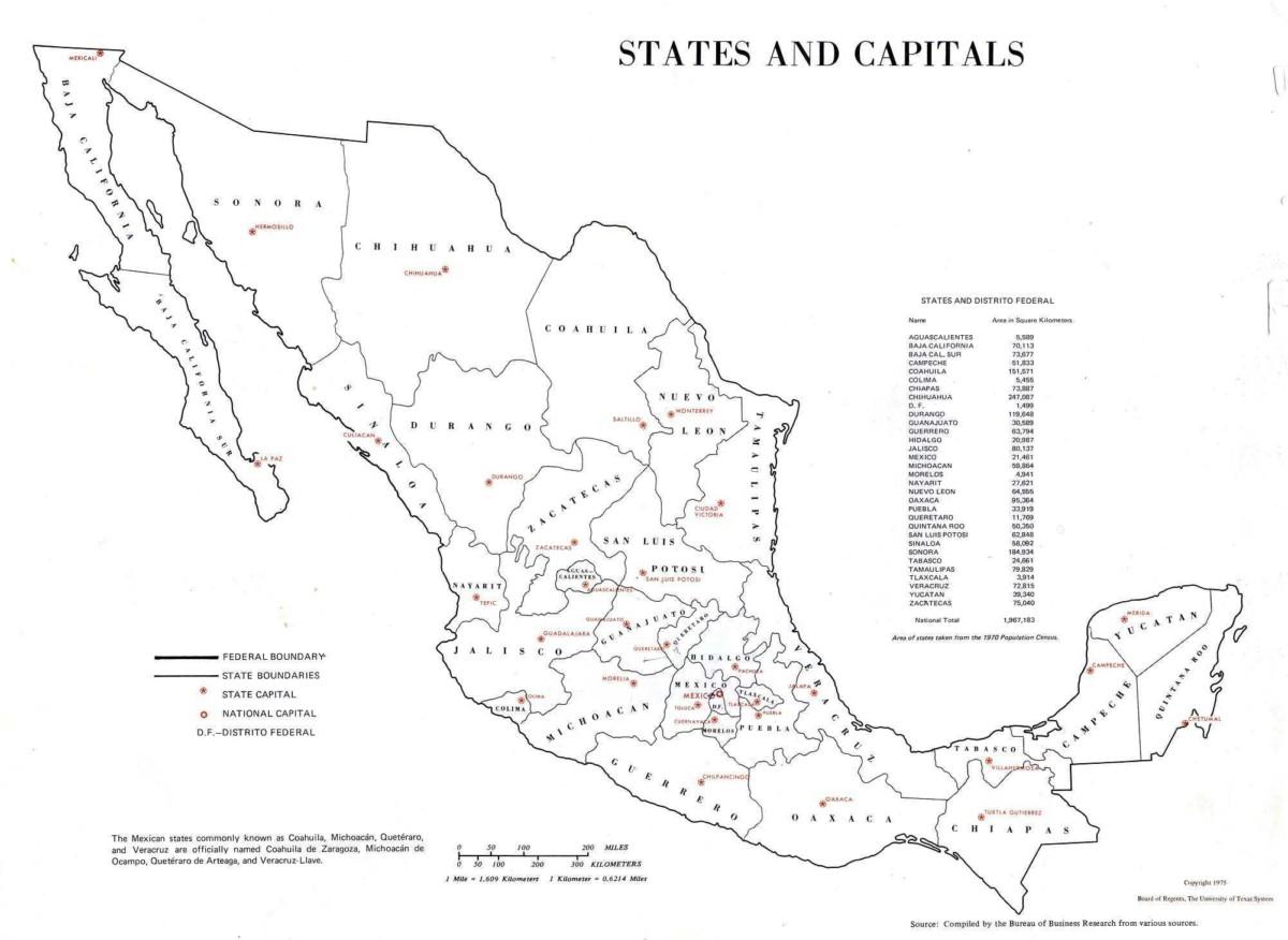 Informacion E Imagenes Con Mapas De Mexico Politico