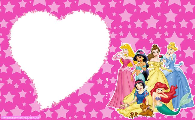 Princesas Disney marcos imagenes tarjetas