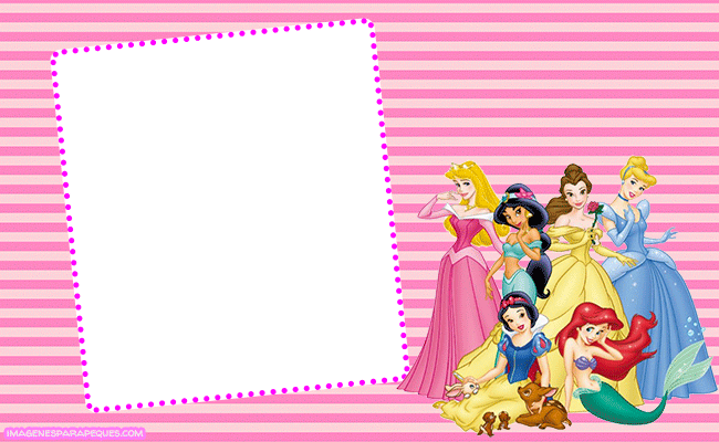 Princesas Disney imagenes marcos para fotos
