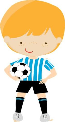 figuras niños jugando al futbol