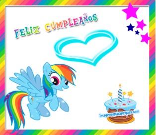 Feliz Cumpleaños My Little Pony tarjetitas