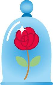 rosa bella y bestia decoracion imagenes