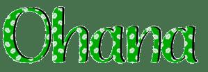 Lilo y Stitch Ohana verde