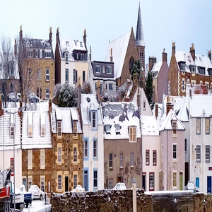 Imagenic square cards, set 3 - St Monans in the Snow