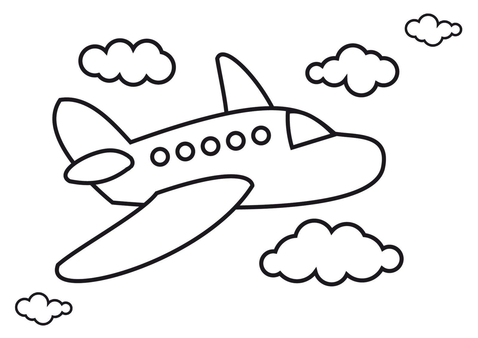 Image Of Dibujo Para Colorear Aviones Avión De Pasajeros