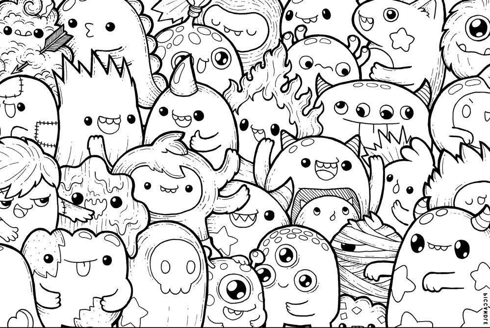 Dibujos Kawaii Para Colorear E Imprimir Grandes On Log Wall