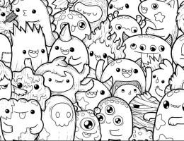 Dibujos Kawaii Para Colorear E Imprimir Grandes On Log Wall