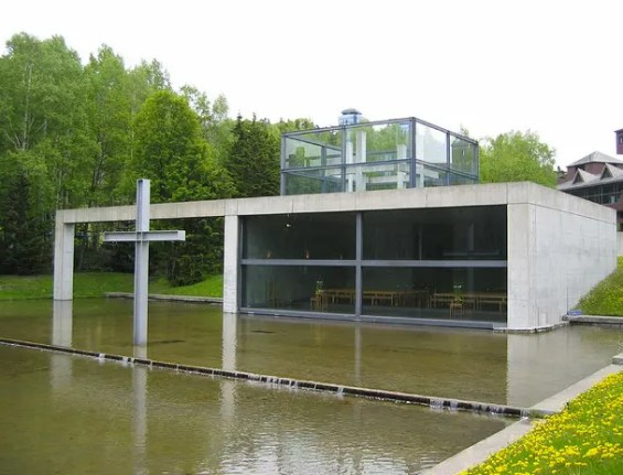 Arquitetura japonesa: Igreja sobre a água