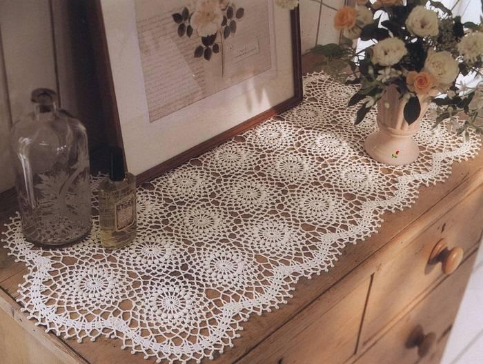 caminho de mesa de croche comoda