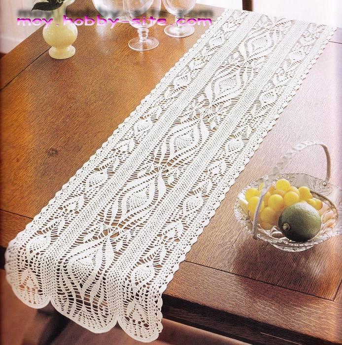 caminho de mesa de croche simples