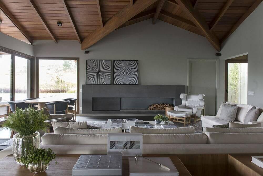 casas de campo sala de estar triplex arquitetura 16653