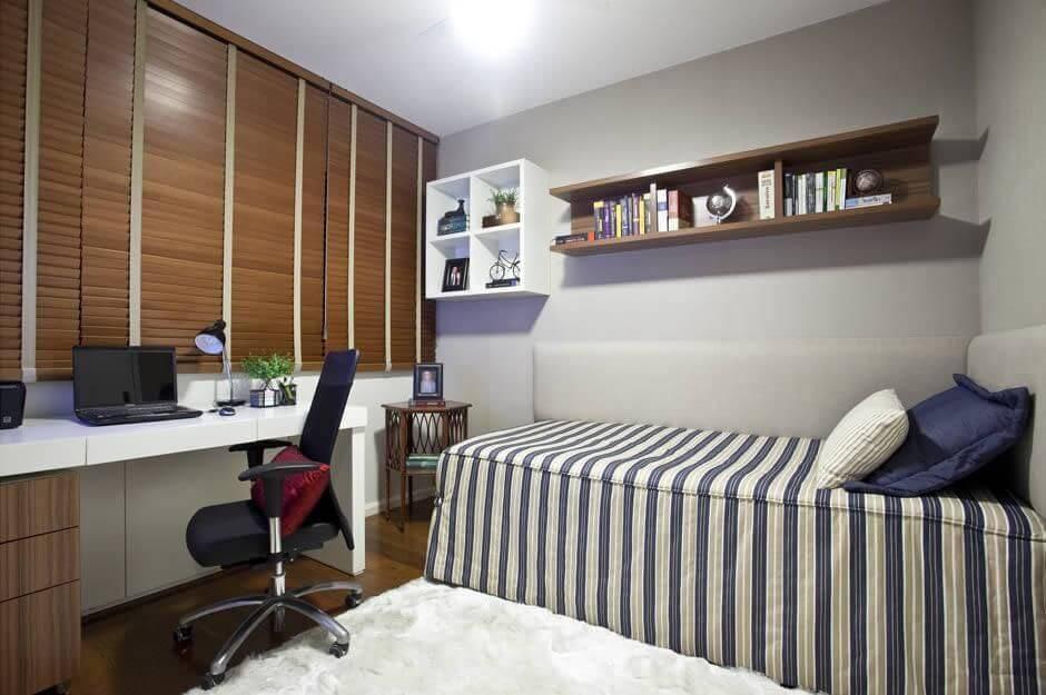 escrivaninha quarto de solteiro persiana de madeira vanja maia 85725