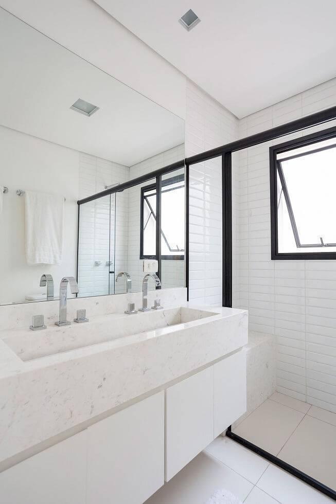 marmore banheiro pia clara tria arquitetura 85349