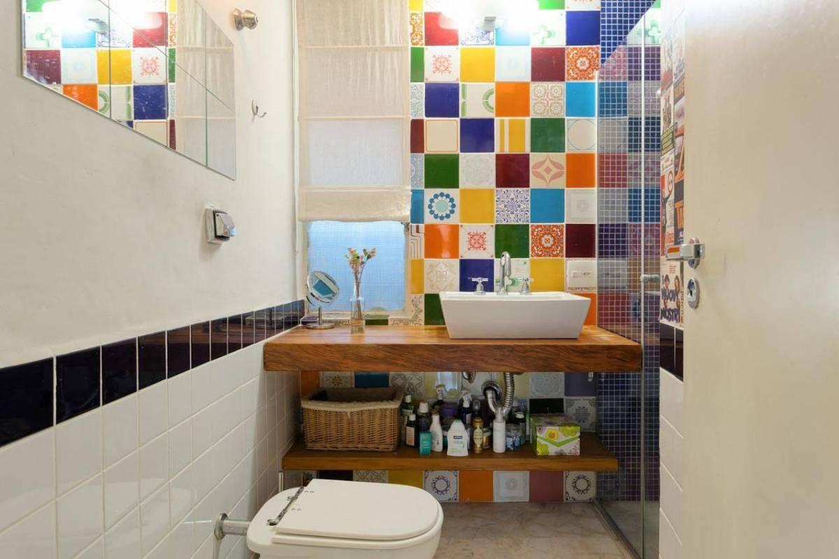 torneiras para banheiro da deca ambiente colorido