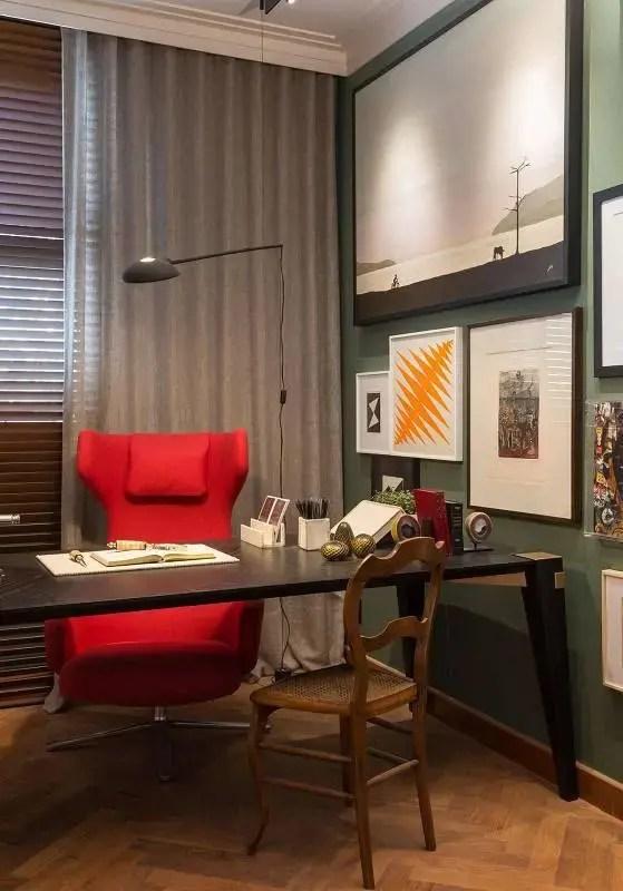 cadeiras escritório vermelha alta patricia hagobian 89398