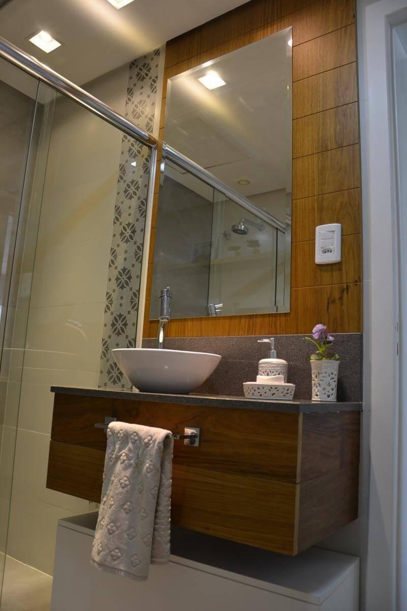 espelho para banheiro retangular com painel 501arquitetura 77537