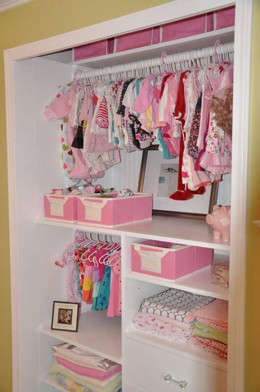 caixa organizadora guarda roupa de bebe