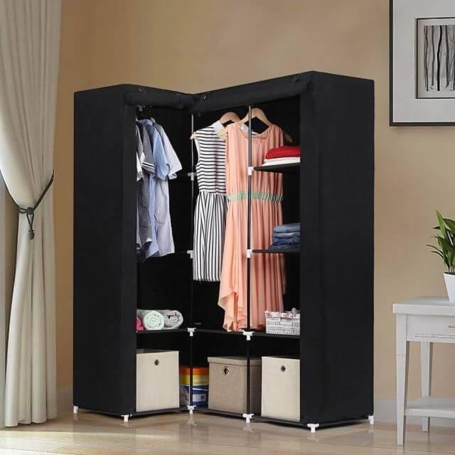 caixa organizadora guarda roupa portátil