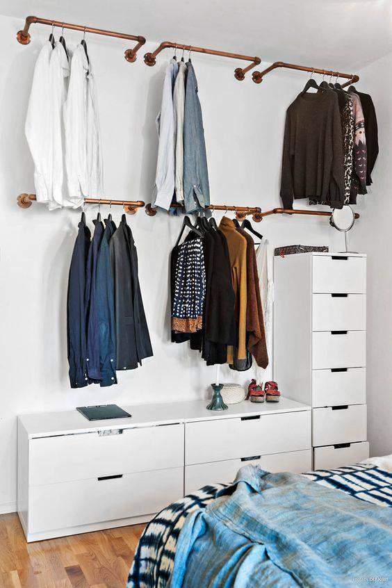 quarto decorado pinterest closet pequeno
