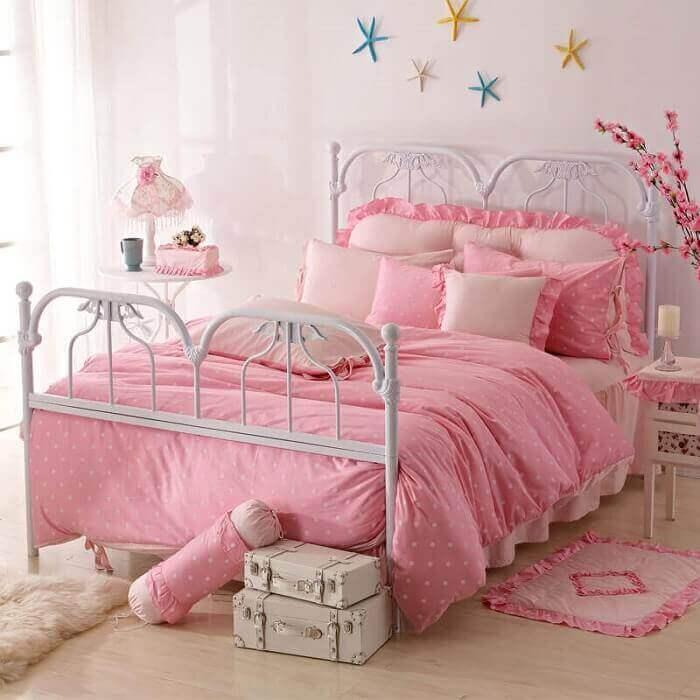 roupa de cama para quarto de princesa
