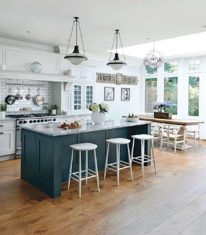 Modelo de cozinha com ilha