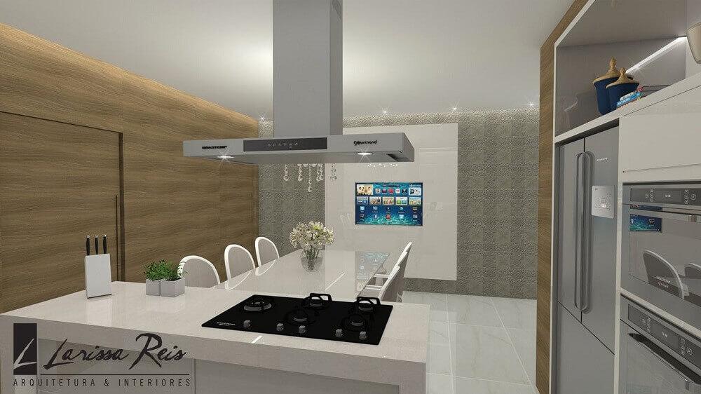 Projeto de cozinha com ilha