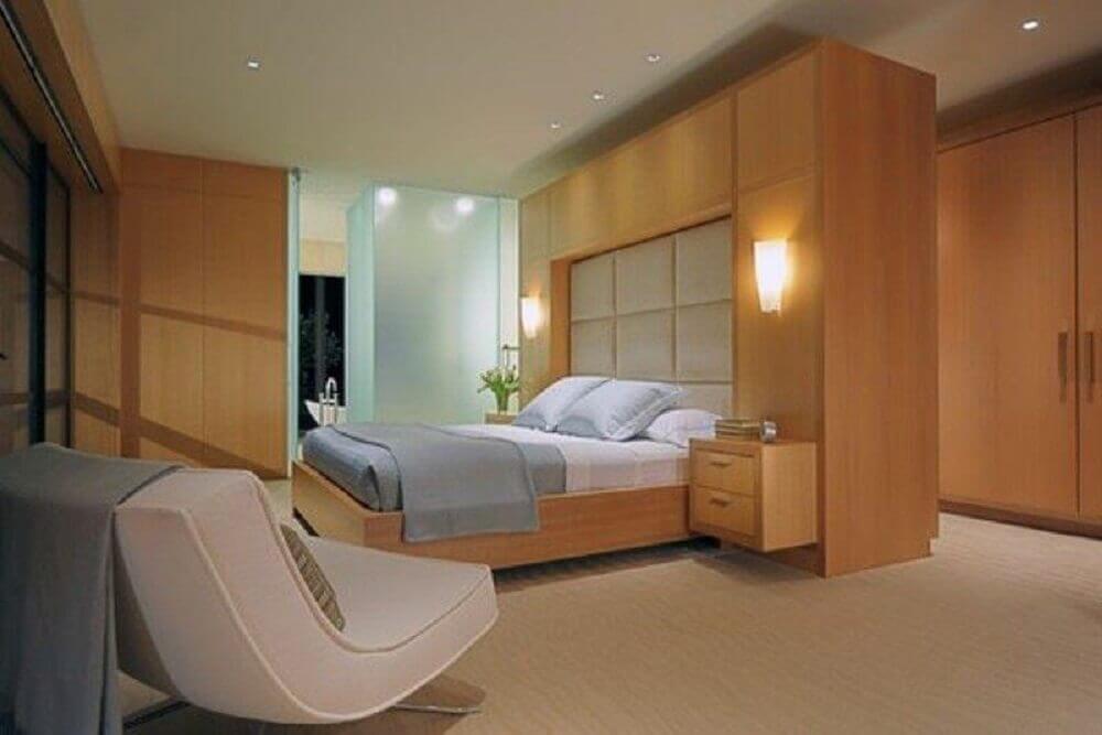 quartos de casal modernos com decoração neutra Foto De Meza + Architecture