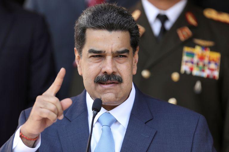 Nicolás Maduro durante uma conferência em Caracas, em 12 de março.
