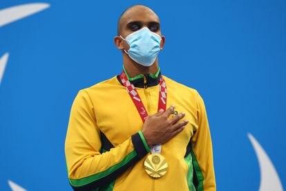 Wendell Belarmino levou o ouro nos 50m livre para deficientes visuais.
