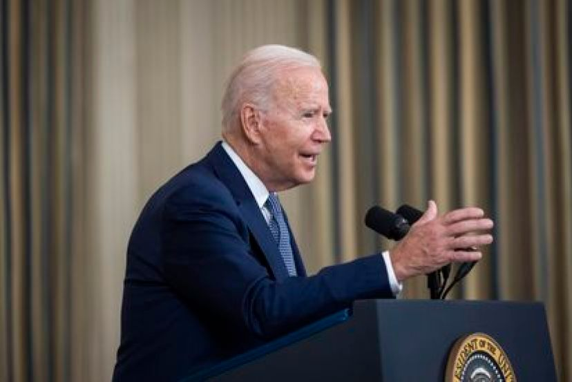 Joe Biden speaks to the press Sept. 3 at the White House.