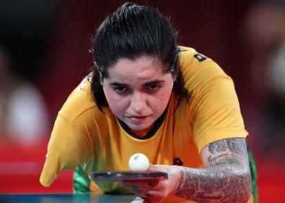 Bruna Costa Alexandre, medalha de prata no tênis de mesa na classe T10 (para atletas andantes).