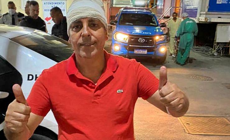 Zico Bacana, vereador do Rio, sobreviveu a um atentado a tiros.