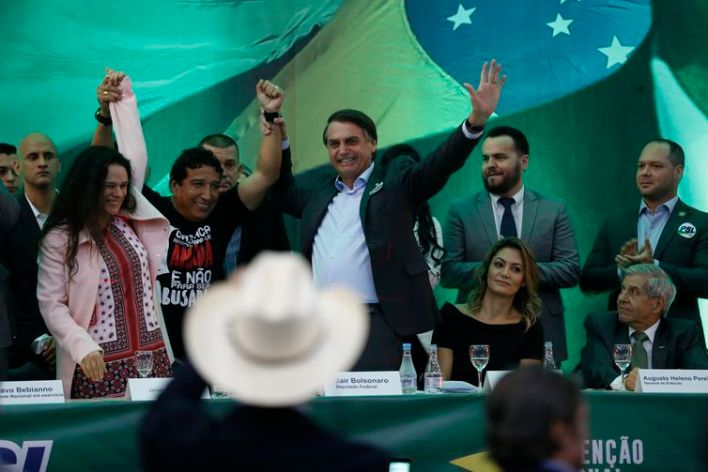 PSL lança candidatura de Jair Bolsonaro à presidência da República.